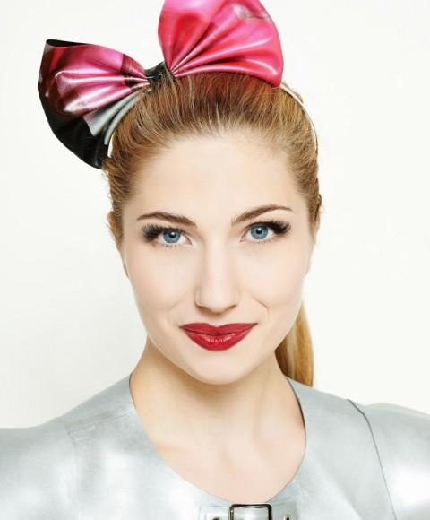 Yummy Gummy latex head bow, Pink marble