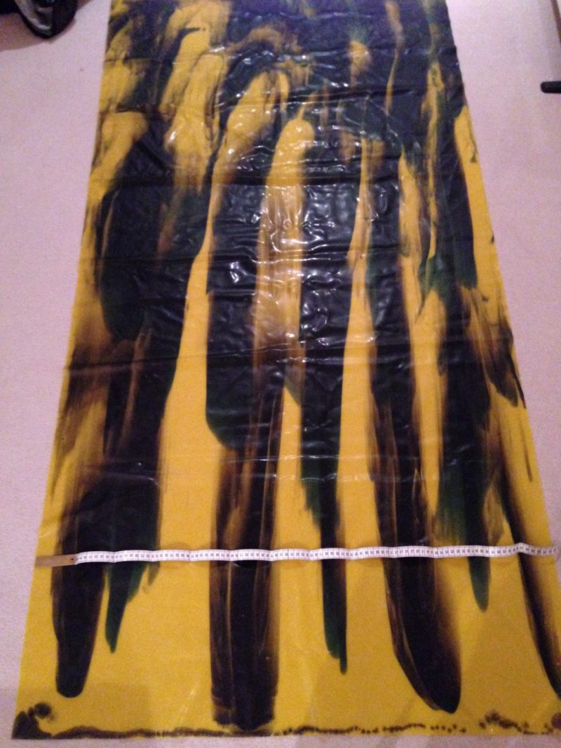 Yummy Gummy Latex Stripe Marble Yellow and black