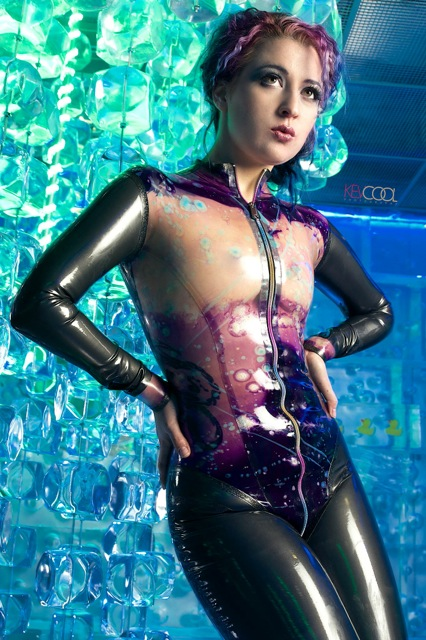 Clear and Purple Galaxy Latex