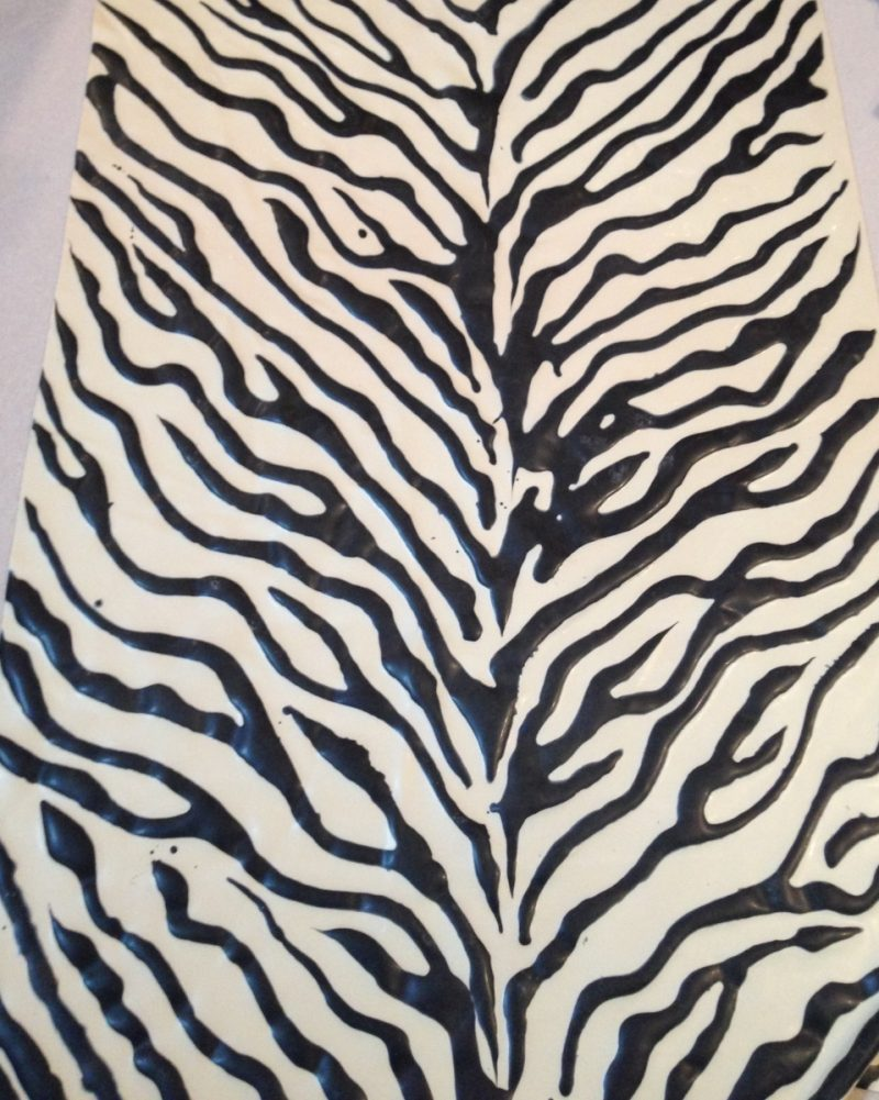 Yummy Gummy Black and White Zebra patterned latex