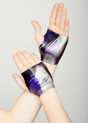 Yummy Gummy Latex mits purple marble