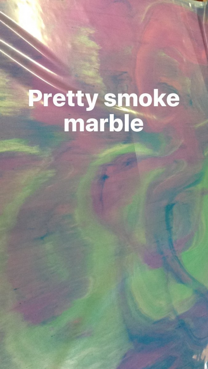 coloured smoke marble
