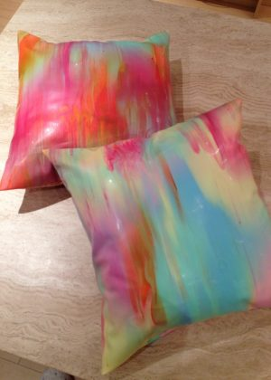 Yummy gummy Latex rainbow marble cushions