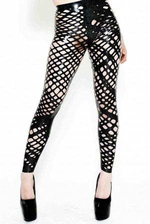 Yummy Gummy latex net latex leggings
