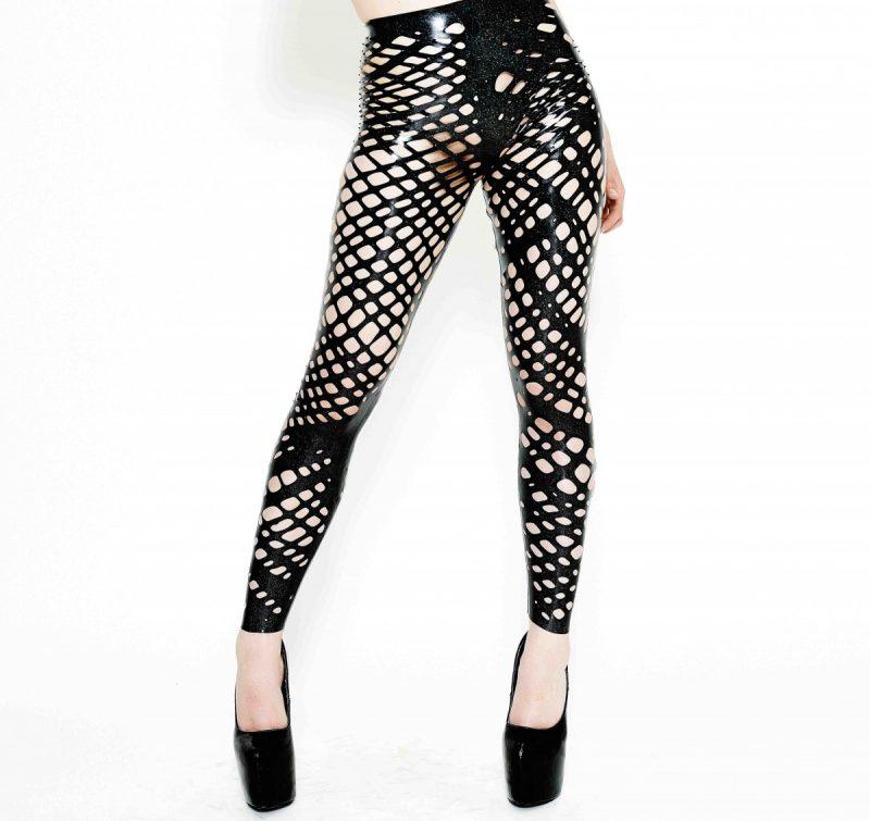 Yummy Gummy latex net latex leggings