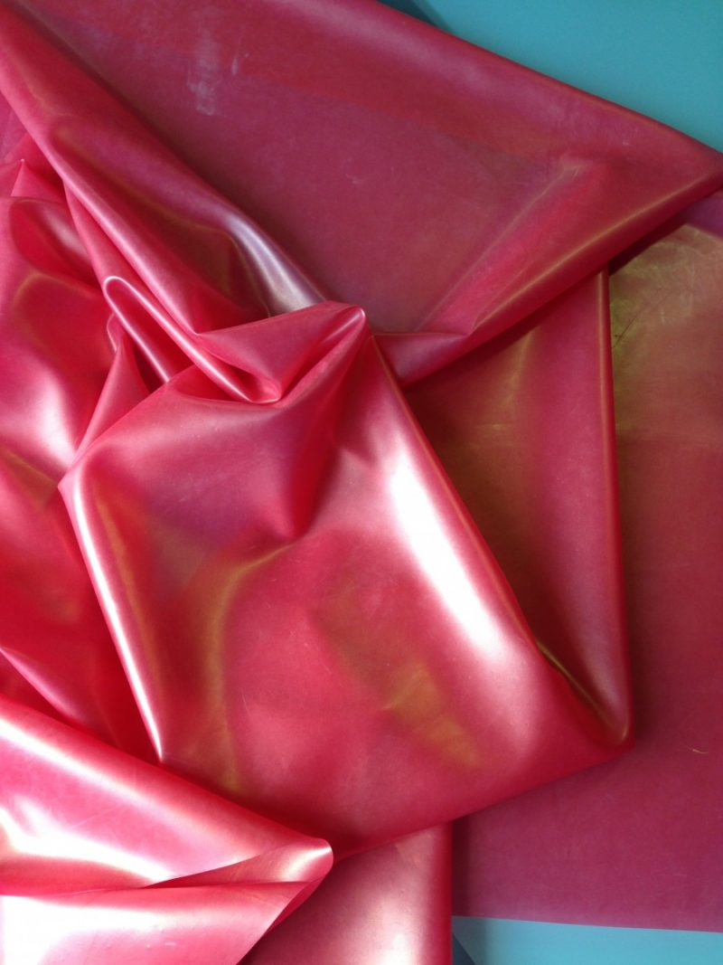 Yummy gummy latex pink with gold shimmer latex