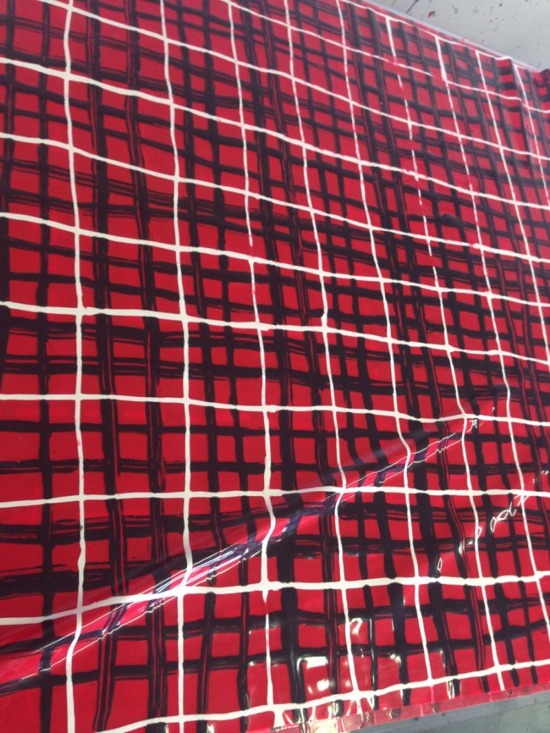 Yummy Gummy Latex Red, Black and white tartan Latex