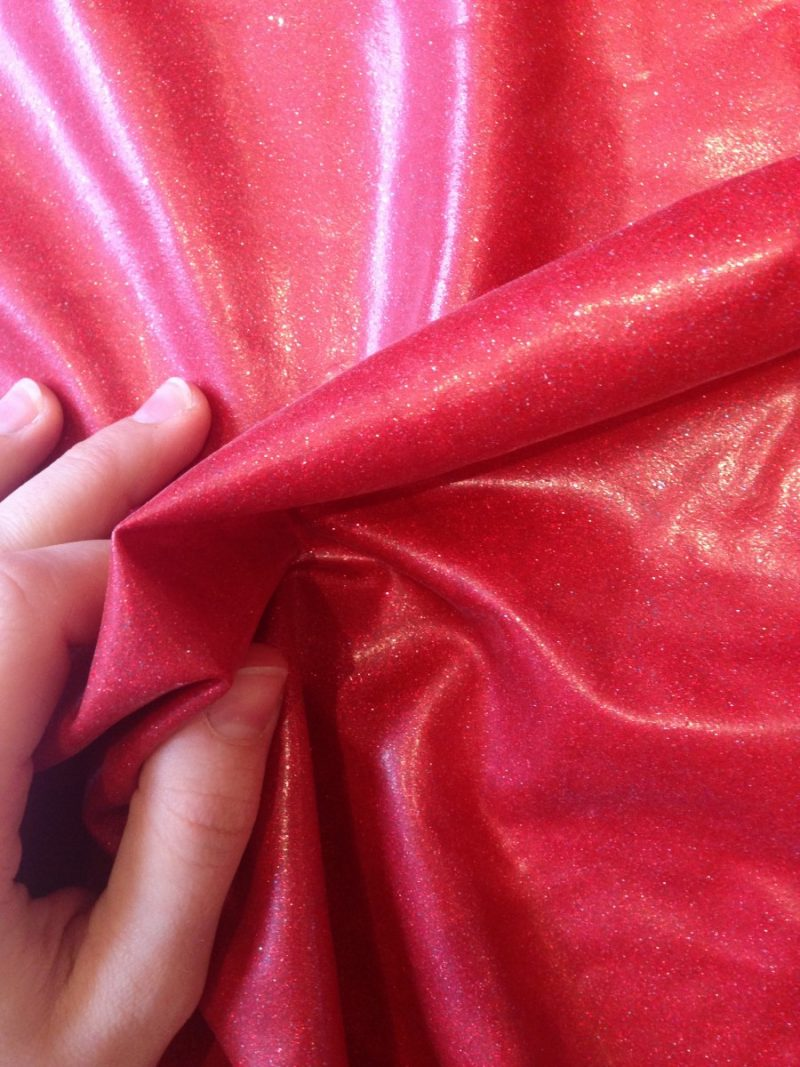 Red glitter latex