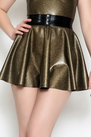 Yummy Gold Obsidian Circle Skirt