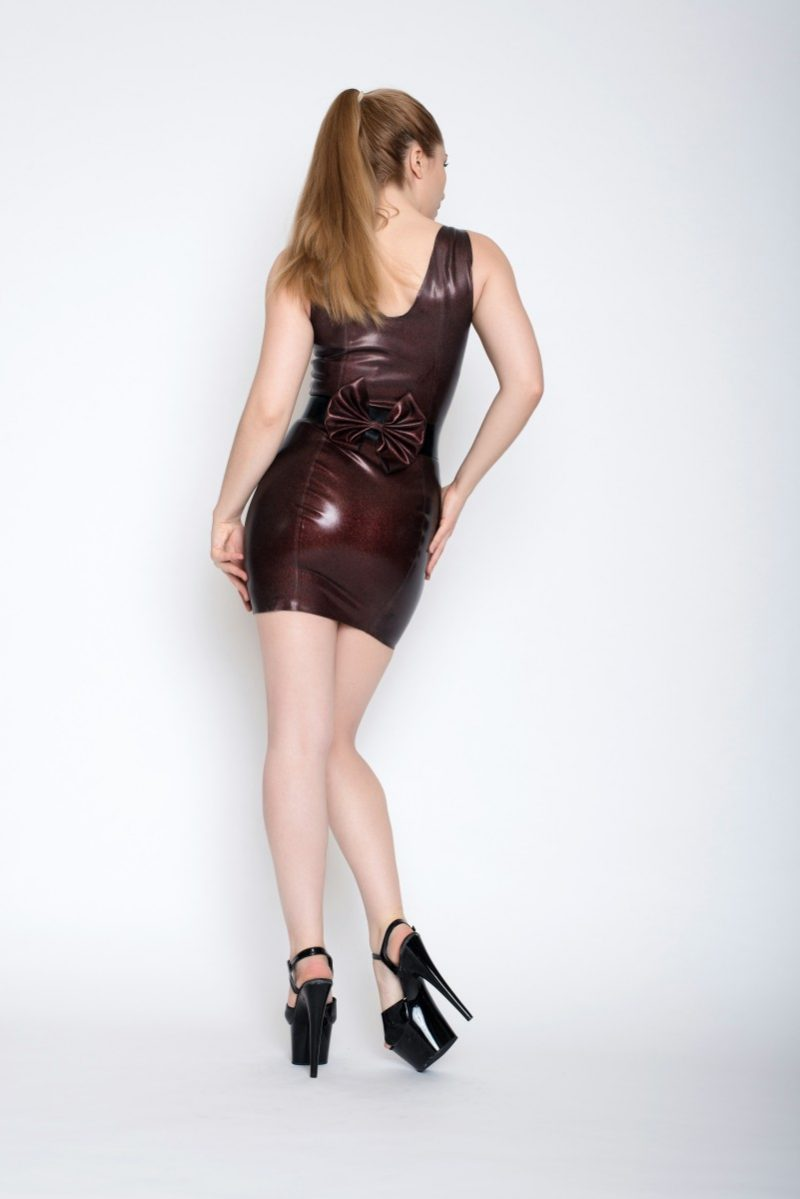 Yummy Red Obsidian Short dress and peplum belt and bow belt