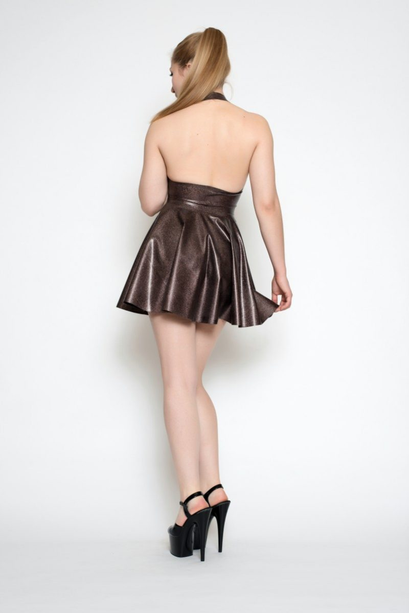 Yummy Dusty Pink Obsidian in the Pleated Halter Dress