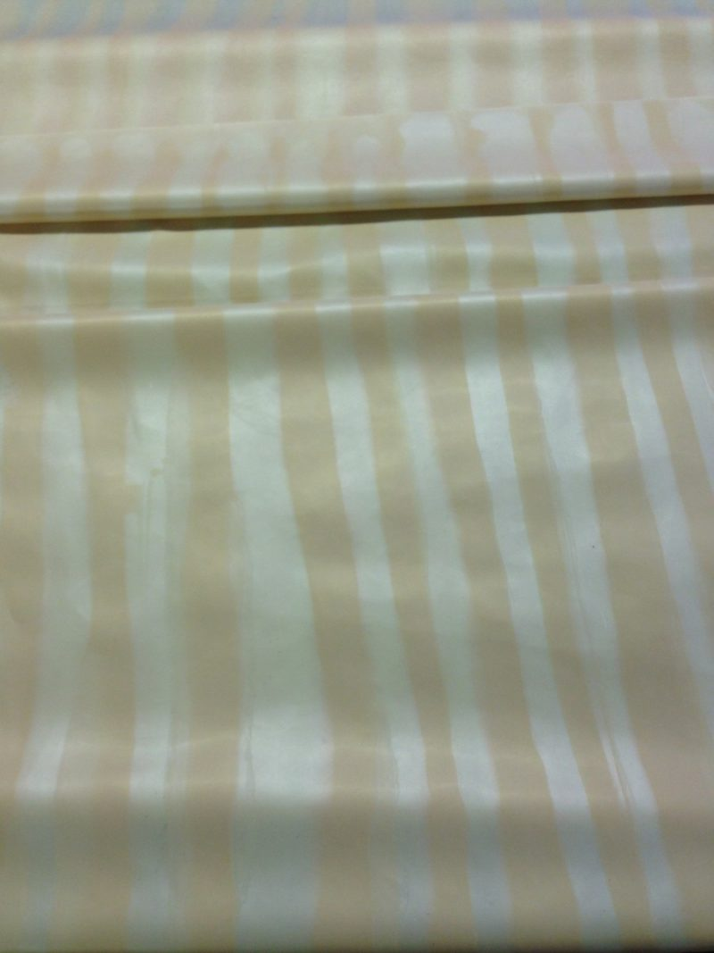 Gold pearl and silver pearl vertical detailed stripe latex