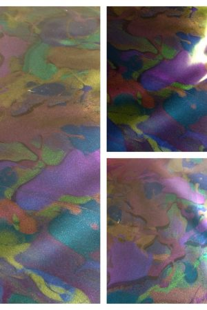 Oil Slick colour change marble