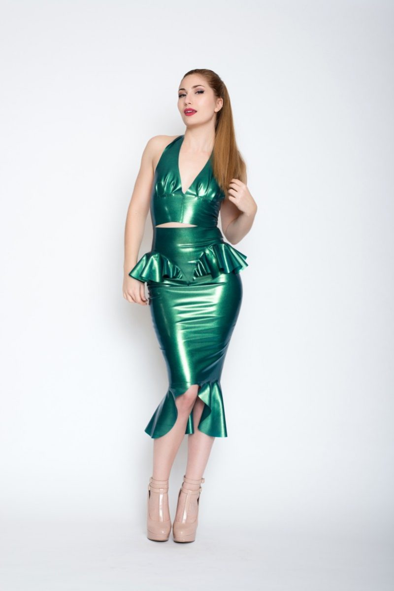Yummy gummy Latex Non etched mermaid outfit
