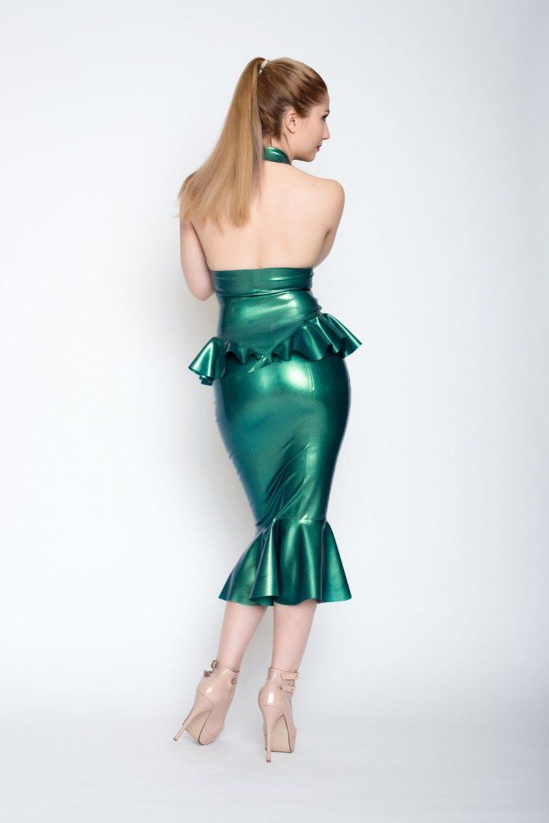 Yummy gummy Latex Non etched mermaid pencil skirt