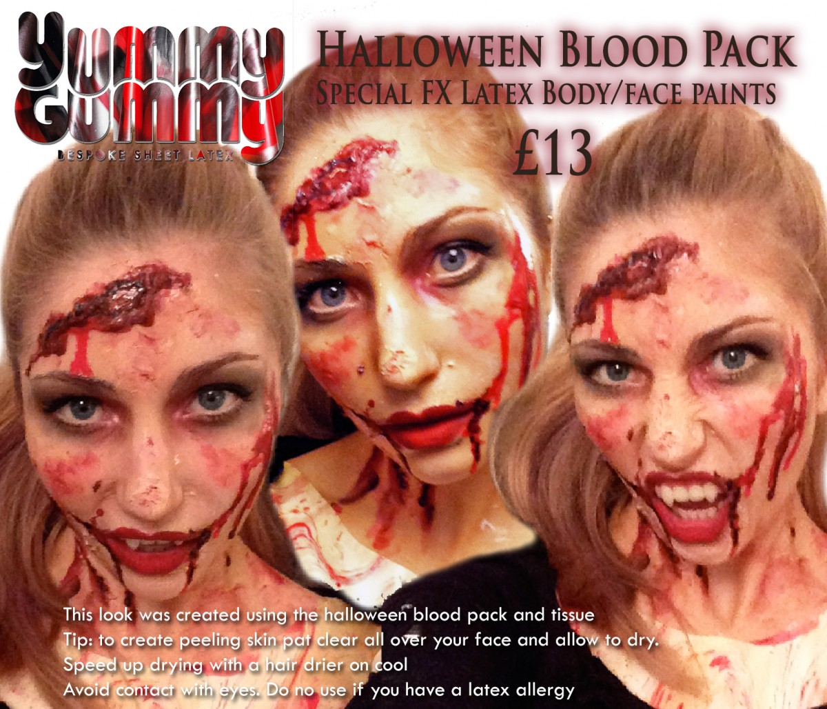 Liquid Latex Sfx Body Face Paint Halloween Blood Pack