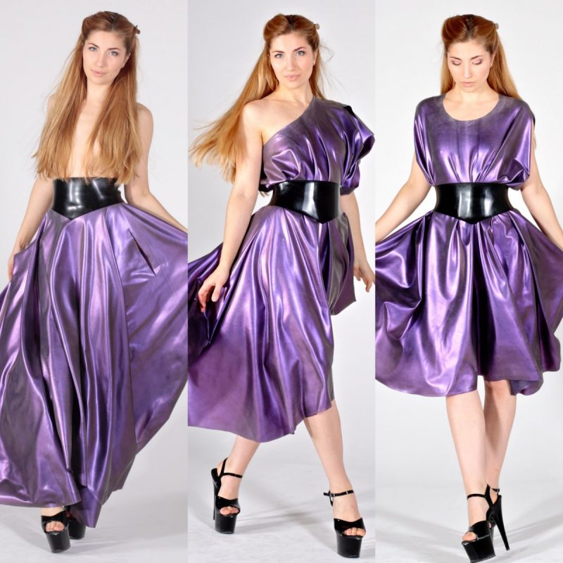 Purple with purple colour change multiway dress / skirt