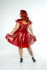 FFFB x YG Cap sleeve skate dress in blood red with blush